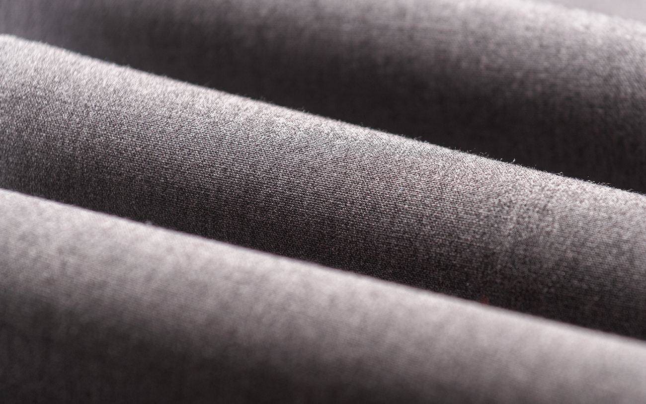 Close-up of Grey Fabric Rolls