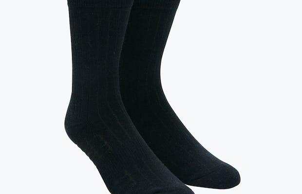 Black Rib Knit Atlas Dress Socks