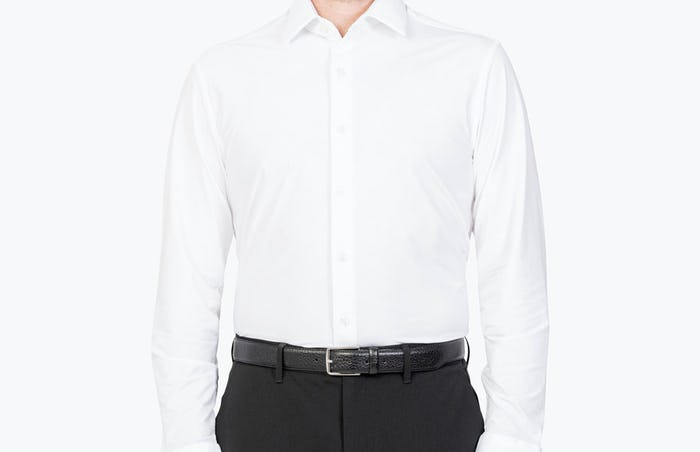 Model is 5'10, 170lbs, wearing size Medium Slim.