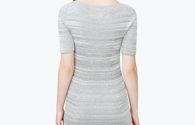 Women's 3D Print-Knit Dress - Barcode Grey - Image 6