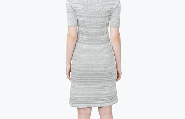 Women's 3D Print-Knit Dress - Barcode Grey - Image 7