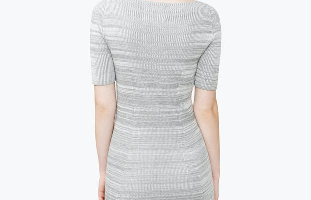 Women's 3D Print-Knit Dress - Barcode Grey - Image 10