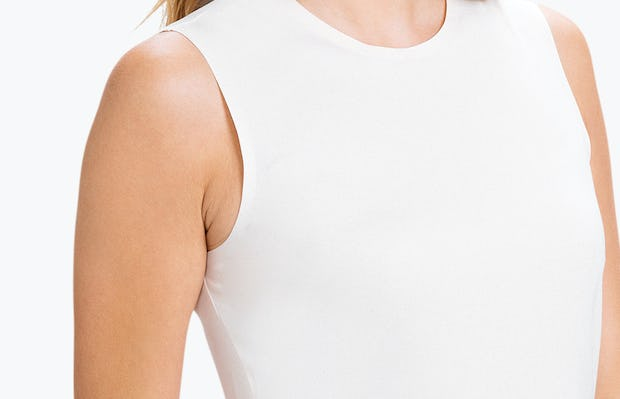 Women's Blush Luxe Touch Tank on Model Facing Right