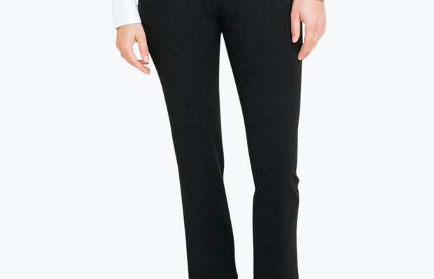 Women's Black Velocity Classic Crop Pant on Model Facing Forward