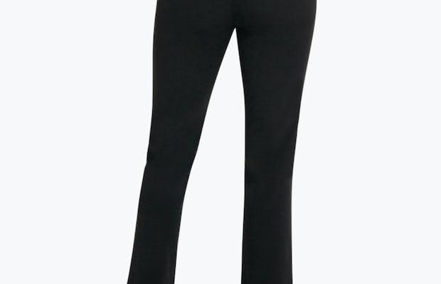 Women's Black Velocity Classic Crop Pant on Model Facing Backward