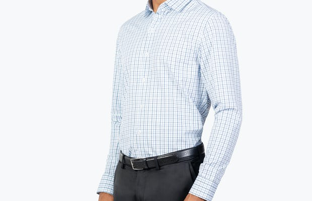 Men's Aero Zero Dress Shirt - Blue Tattersall - Image 1
