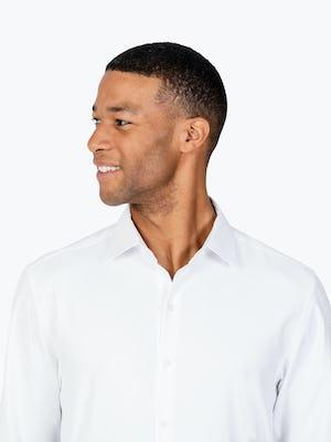 Men's Aero Zero Dress Shirt - White - Image is 3