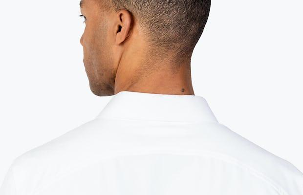 Men's White Aero Zero Dress shirt headshot from behind