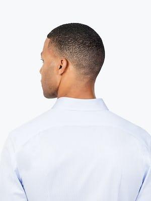 Men's Blue Stripe Gemini Kit shirt headshot from behind