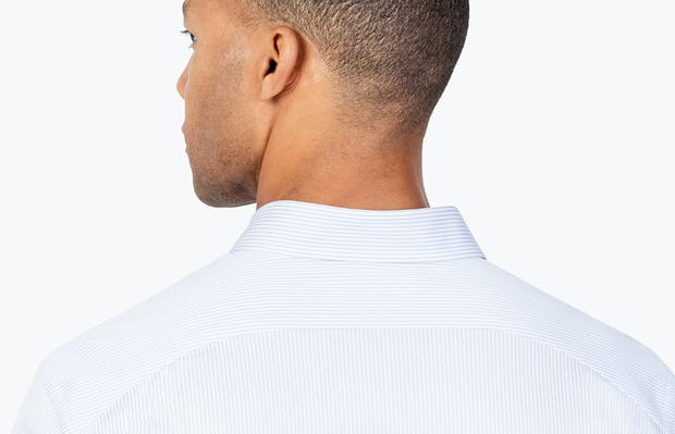 Men's Blue Stripe Gemini Kit shirt headshot from behind