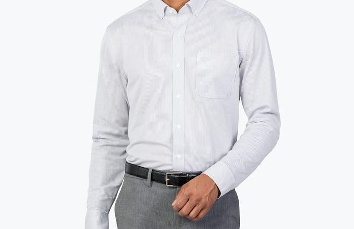 Model is 6'1, 175lbs, wearing Medium Slim.