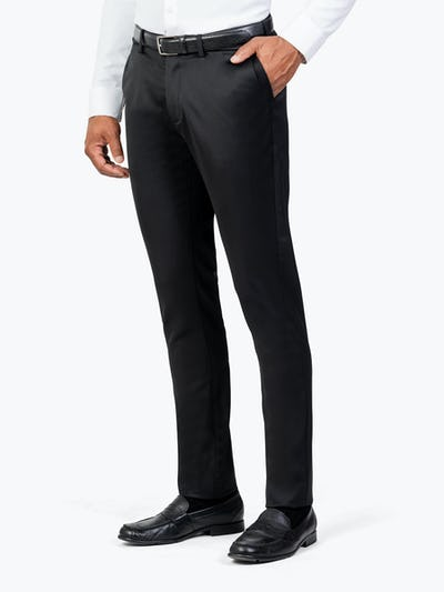 Men's Black Velocity Merino Pant model facing off-right