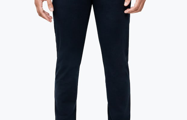 Men's Navy Momentum Chino on Model Facing Forward