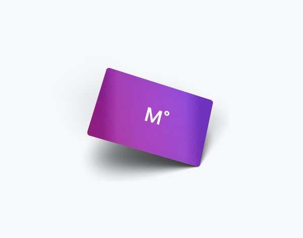Ministy of Supply Purple Gift Card with white M