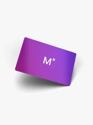 Ministry of Supply Purple Gift Card with White M