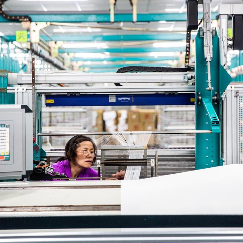 Woman at factory