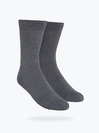 Grey Rib Knit Atlas Dress Socks