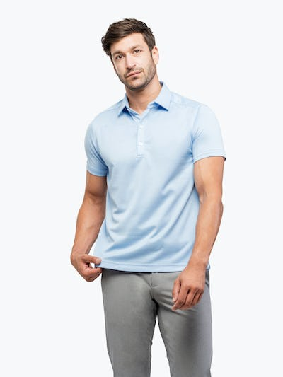 Apollo Polo Light Blue Brushed