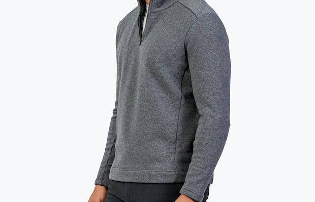 Men's Hybrid Fleece 1/4 Zip - Grey - Image 5