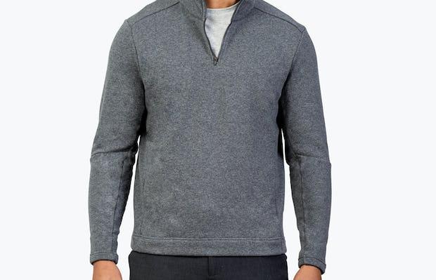 Men's Hybrid Fleece 1/4 Zip - Grey - Image 4
