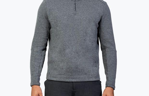 Men's Hybrid Fleece 1/4 Zip - Grey - Image 1