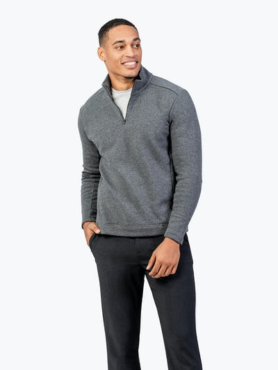 Men's Hybrid Fleece 1/4 Zip - Grey - Main Image