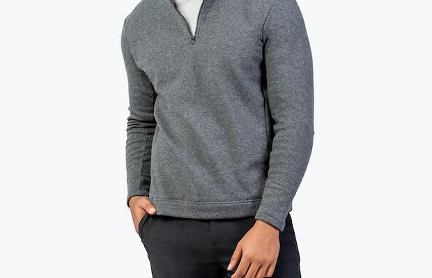 Men's Hybrid Fleece 1/4 Zip - Grey - Main Image