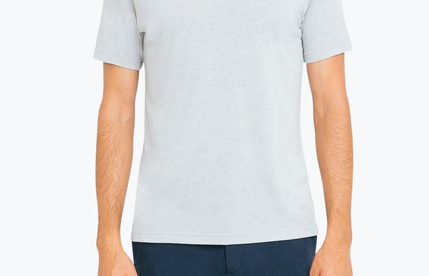 Men's Grey Composite Polo on Model Facing Forward