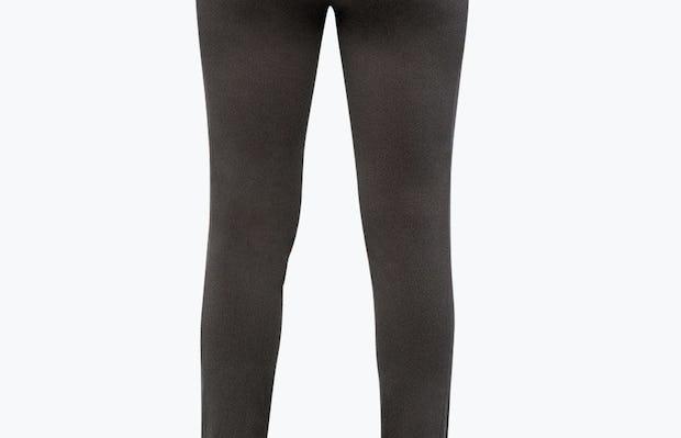Women's Charcoal Heather Kinetic Skinny Pant on Model Facing Backward