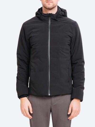 Men's Black Mercury Intelligent Heated Jacket on Model Facing Forward
