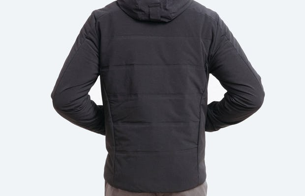 Men's Black Mercury Intelligent Heated Jacket on Model Facing Backward