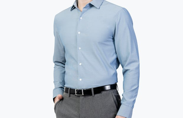 Men's Apollo Dress Shirt - Sky Blue Oxford Brushed - Main Image