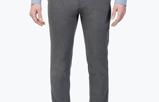 Men's Charcoal Velocity Dress Pants on Model Facing Forward