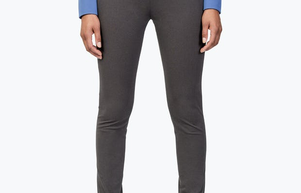 Women's Charcoal Heather Kinetic Skinny Pants on Model facing forwards