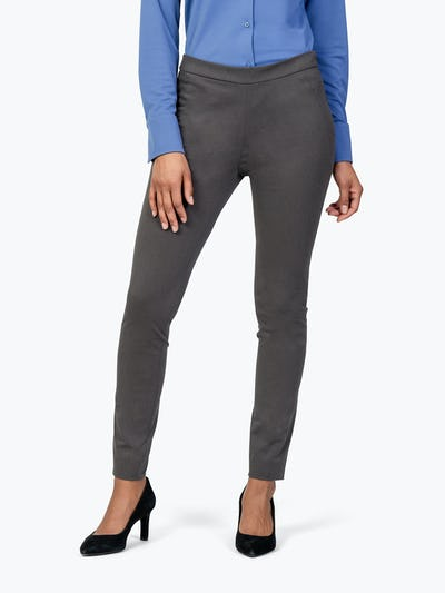 Women's Charcoal Heather Kinetic Skinny Pants on Model facing Forward