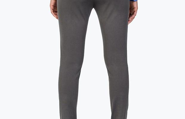 Women's Charcoal Heather Kinetic Skinny Pants on Model facing backwards