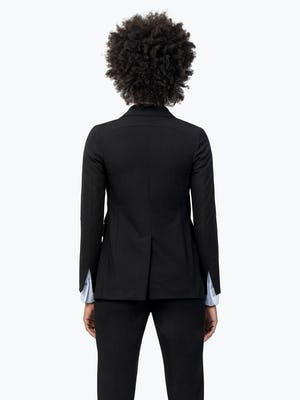 Women's Black Velocity Blazer on Model Facing Backward