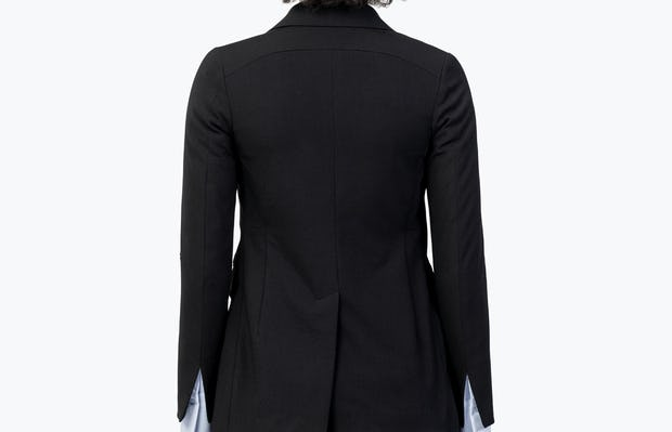 Women's Black Velocity Blazer on Model Facing Backward