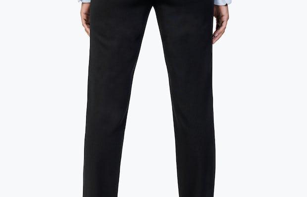 Women's Black Velocity Dress Pant on Model Facing Backward