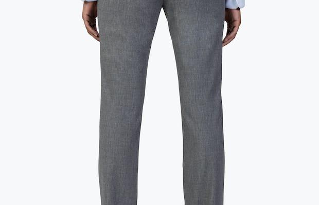Women's Light Grey Velocity Dress Pant on Model Facing Backward
