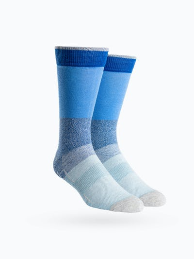 Blue Block Atlas Dress Socks