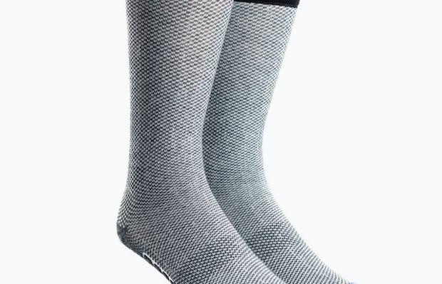 Atlas Dress Sock - Blue Tip Houndstooth - Main Image