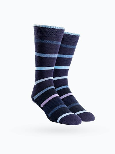 Navy Stripe Atlas Dress Socks
