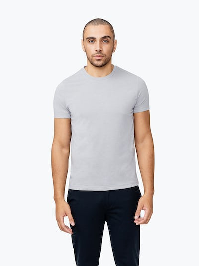 Men's Stone Previous Generation Composite Merino Tee  on Model Facing Forward