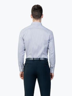 Men's Aero Dress Shirt - Purple Tattersall model facing away from camera