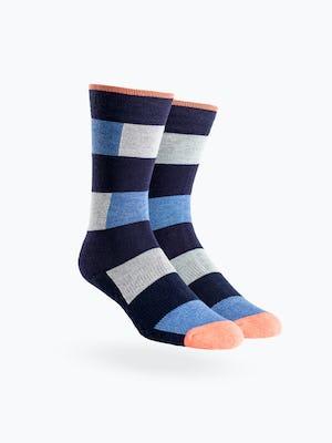 Atlas Dress Sock - Heather Patch Stripe - Main Image
