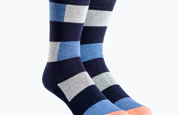 Heather Patch Stripe Atlas Dress Socks
