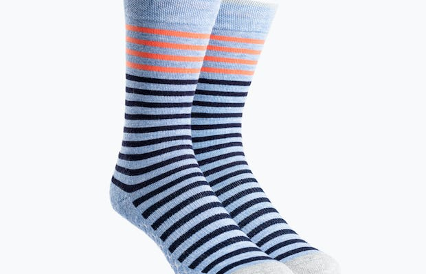 Orange and Blue Stripe Atlas Dress Socks
