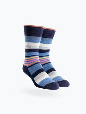 Sunset Ankle Stripe Atlas Dress Socks