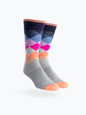 Atlas Dress Sock - Sunrise Argyle - Main Image